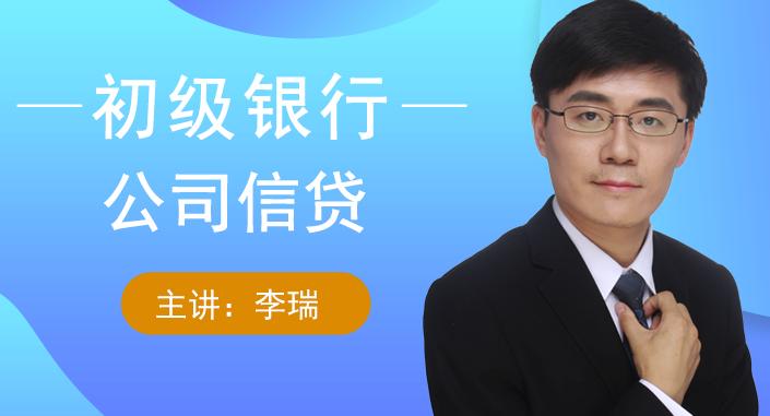 初级公司信贷(视频+讲义)